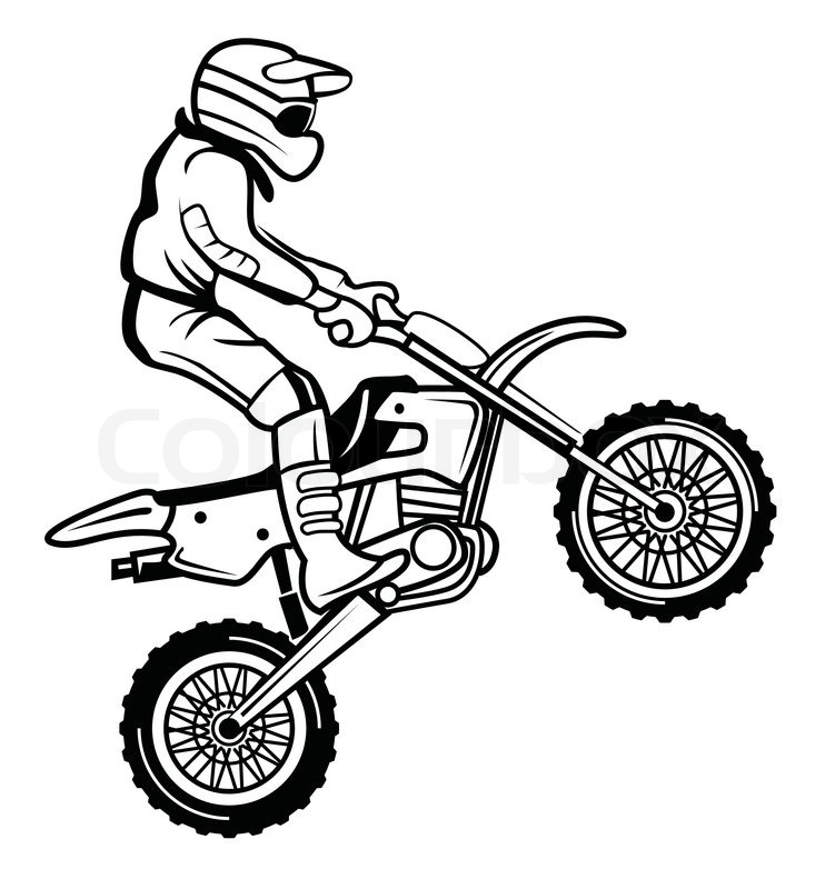 easy dirt bike helmet drawing scales4u