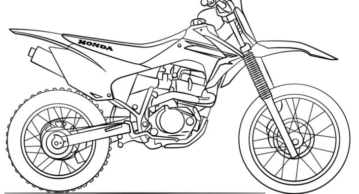 dirt bike coloring pages dirt bikes drawing at getdrawings com free