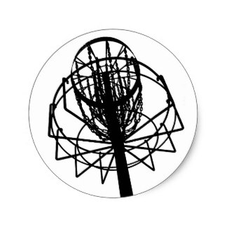 324x324 Disc Golf Basket Stickers Zazzle