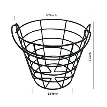 355x355 Hmx Golf Ball Basket Metal Golf Ball Container