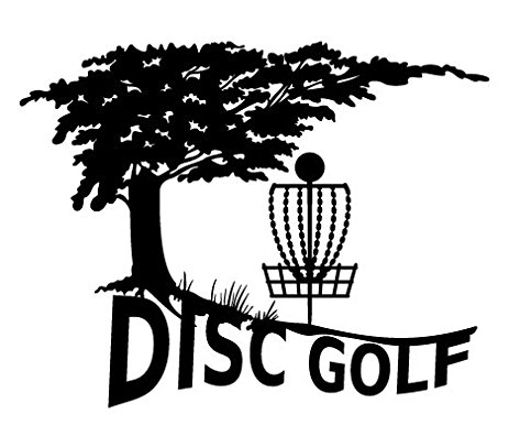 463x406 Nature Tree Disc Golf Decal With Mach 3 Type Basket