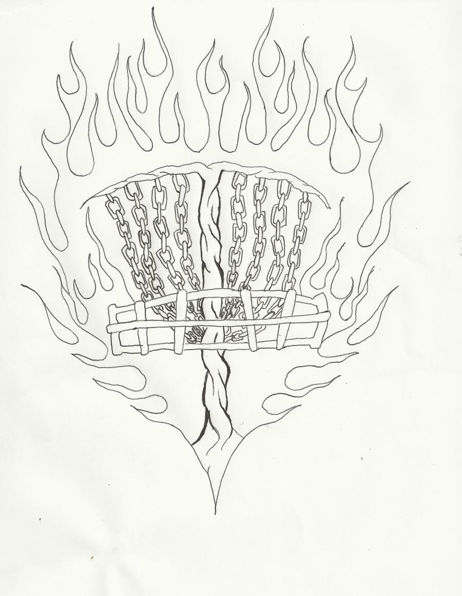 Disc Golf Drawing At Getdrawings Com Free For Personal Use Disc