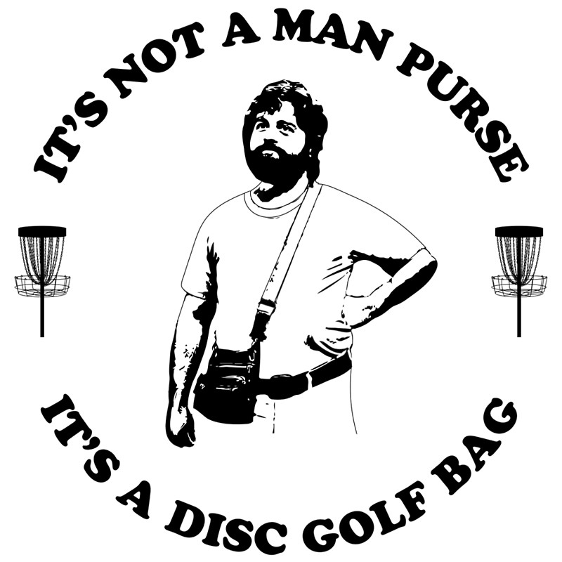 800x800 It's Not A Man Purse. It's A Disc Golf Bag. Drawstring Bags By