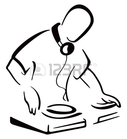 411x450 Dj Behind Console Royalty Free Cliparts, Vectors, And Stock