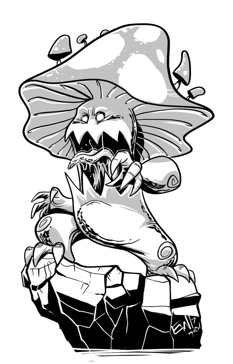 792x1238 Daily Discipline Mushroom Monster Eryck Webb Graphics