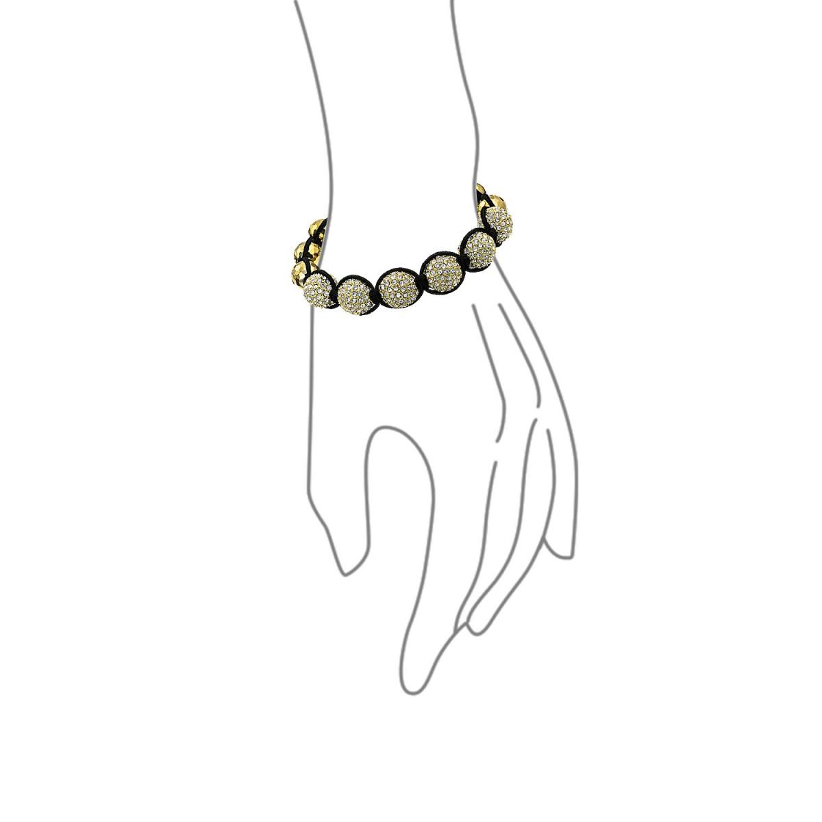 1200x1200 Disco Ball Bead Bracelet Shamballa Inspired Gold Faceted Beads