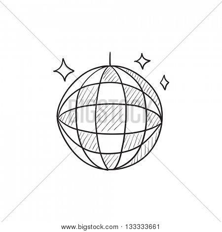 450x470 Disco Ball Vector Sketch Icon Vector Amp Photo Bigstock