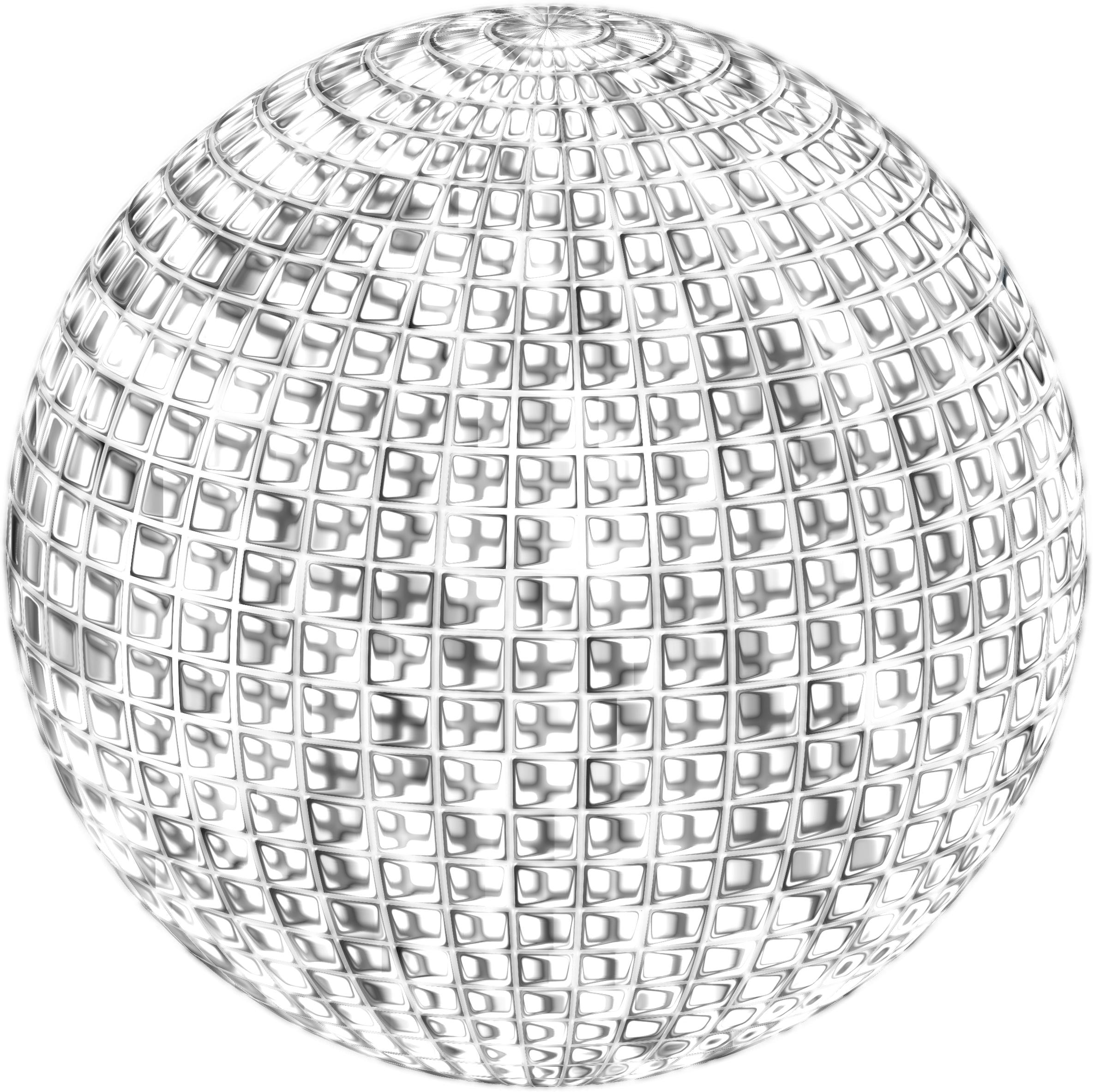 2368x2366 Glimmering Disco Ball Enhanced 4 No Background Icons Png