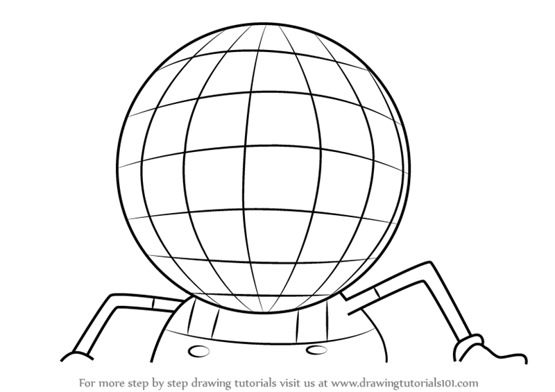800x565 Learn How To Draw Disco Ball Head From Uncle Grandpa (Uncle