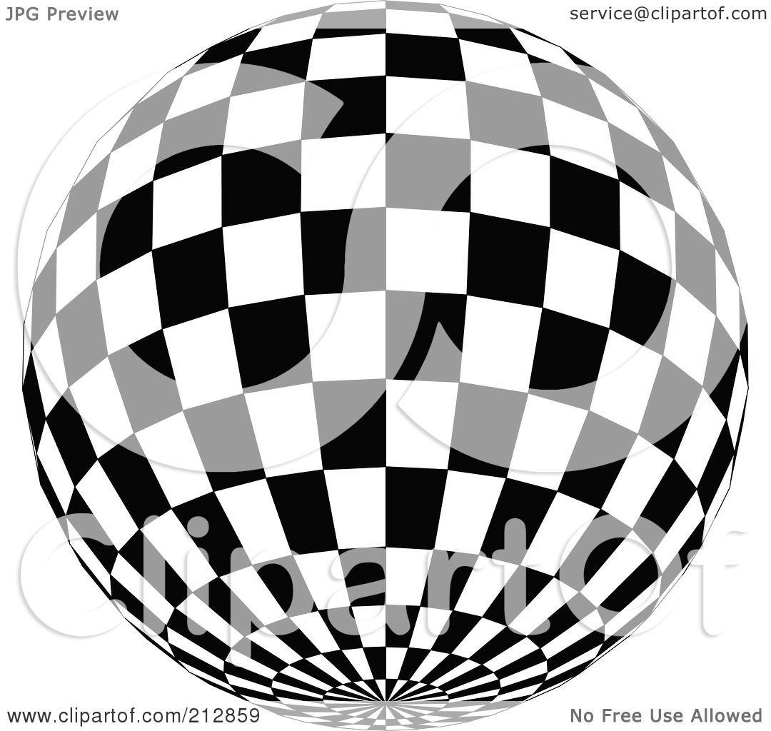 1080x1024 Royalty Free (Rf) Clipart Illustration Of A Checkered Black