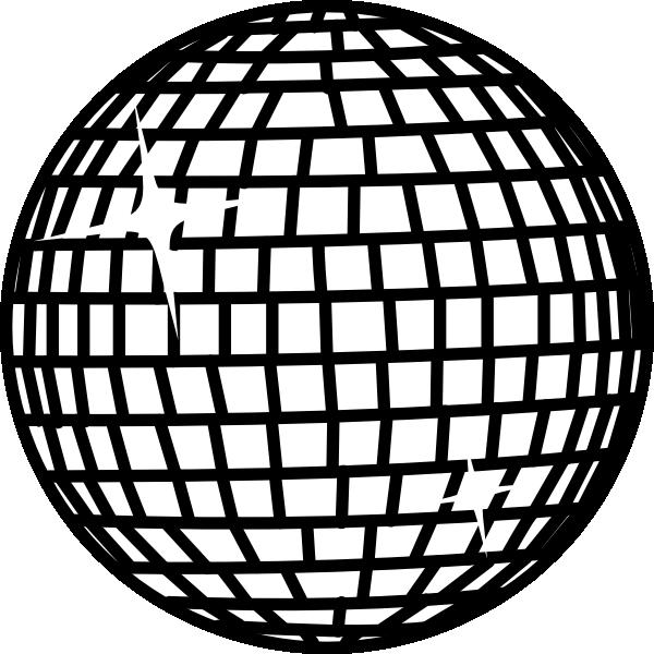 600x600 Snow Disco Ball White Clip Art