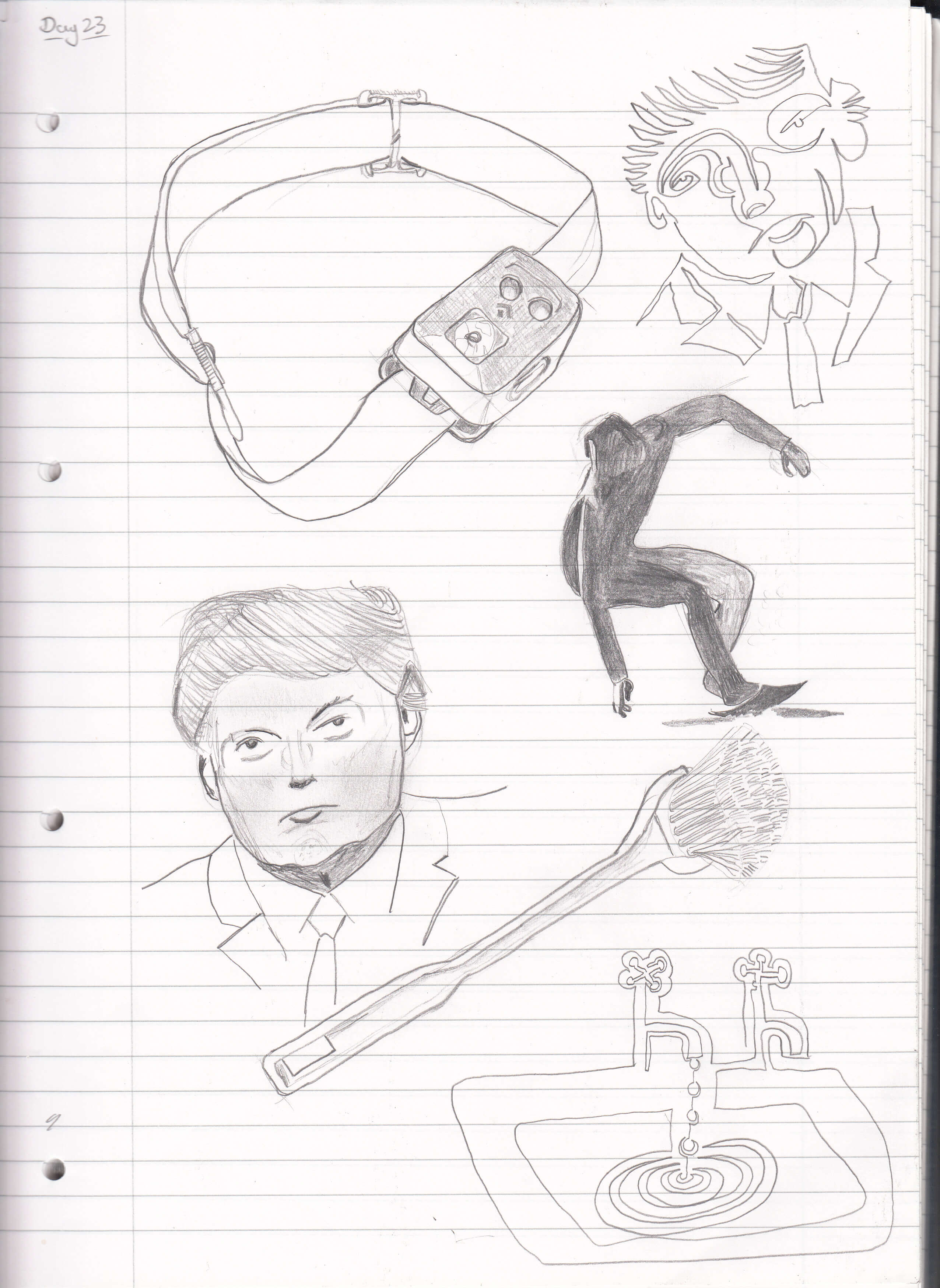 2552x3496 Day 23 Head Torch, Donald Trump, Surfer, Dish Brush, And One Line