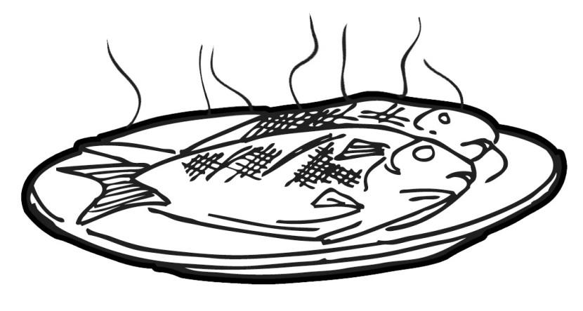830x443 Fish Dish Clipart