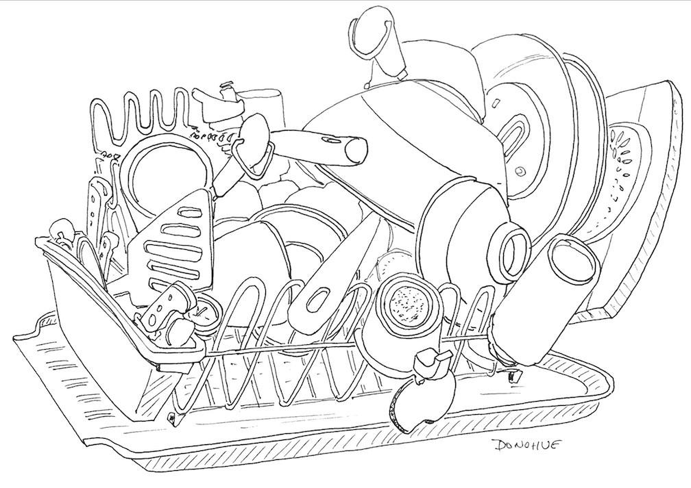 1008x713 2016 12 02 Dish Rack Donohue Drawing Eat Draw Repeat