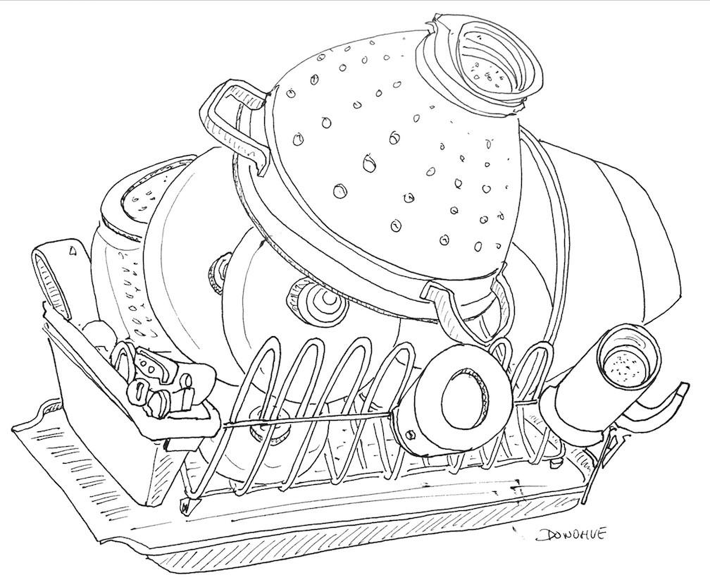 1008x823 2016 12 03 Dish Rack Donohue Drawing Eat Draw Repeat