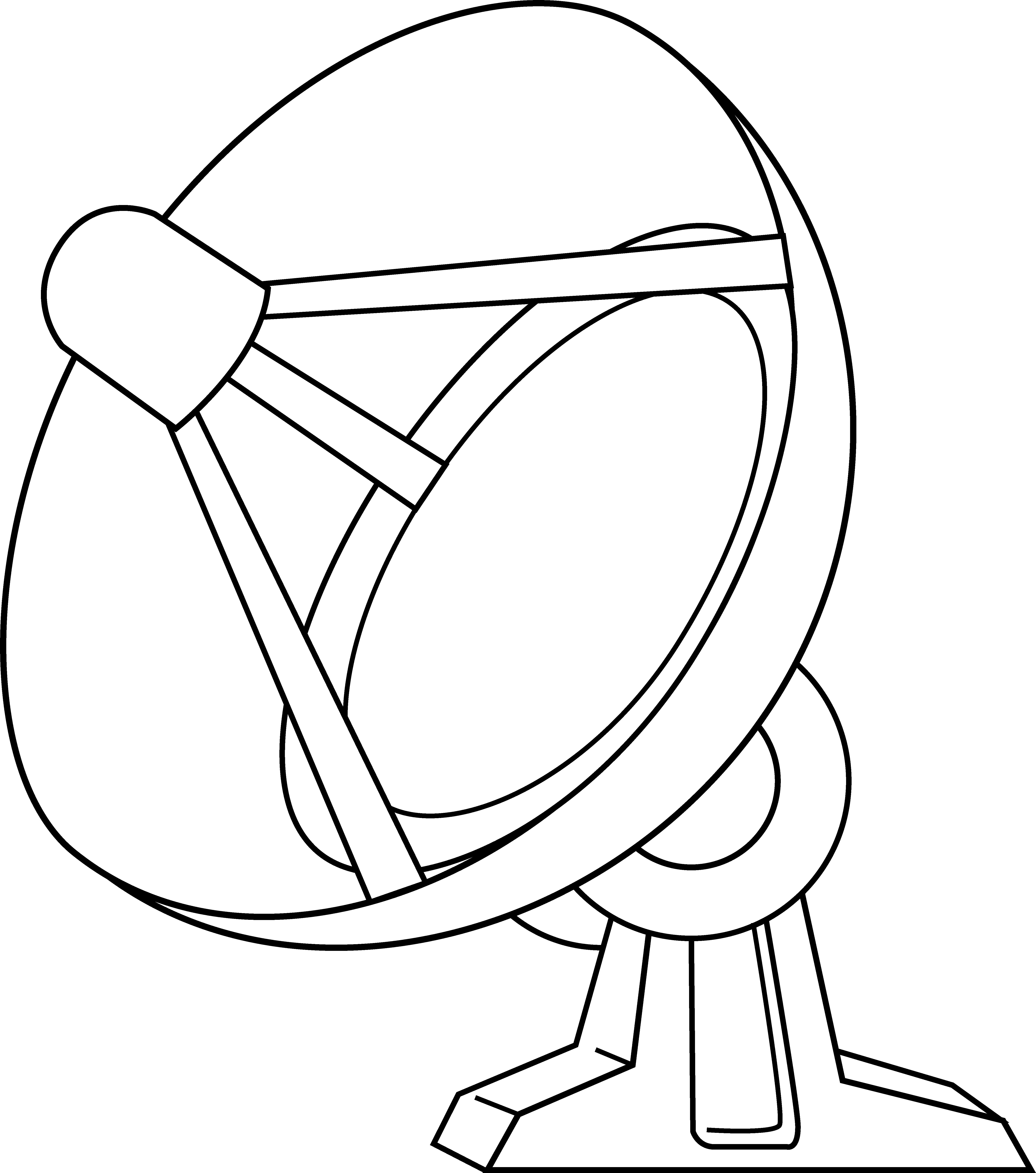 5444x6162 Satellite Dish Line Art