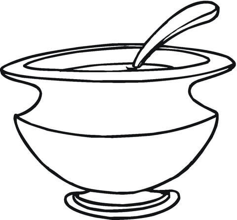 480x445 Soup Dish Coloring Page Free Printable Coloring Pages