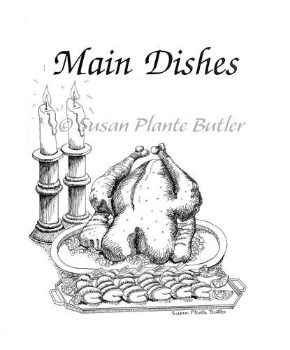 415x500 Susan Plante Butler, Artist, Food Black And White Drawings, Artwork