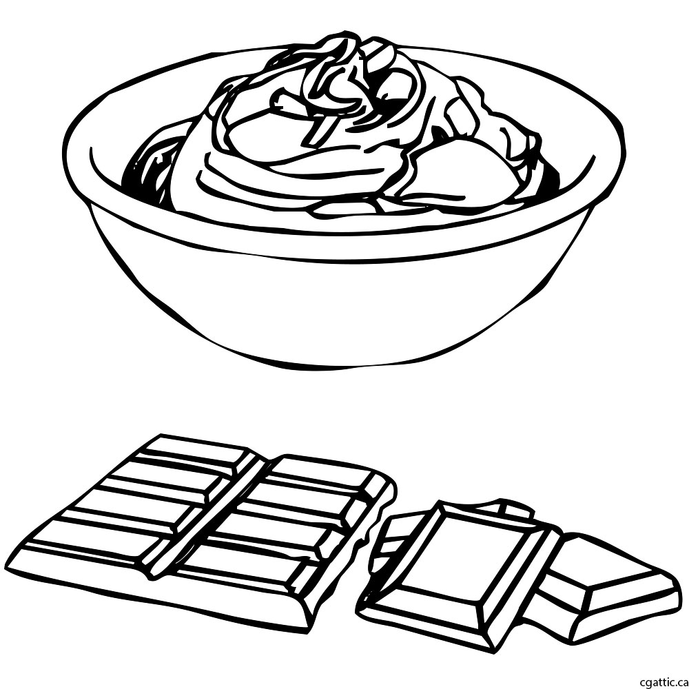 1000x1000 Chocolate Cartoon Drawing In 4 Steps With Photoshop