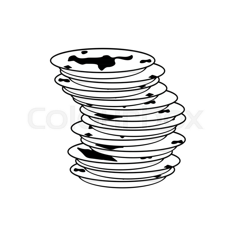 800x800 Dirty Dishes Icon. Dirty Dish Sign. Vector Illustration Stock
