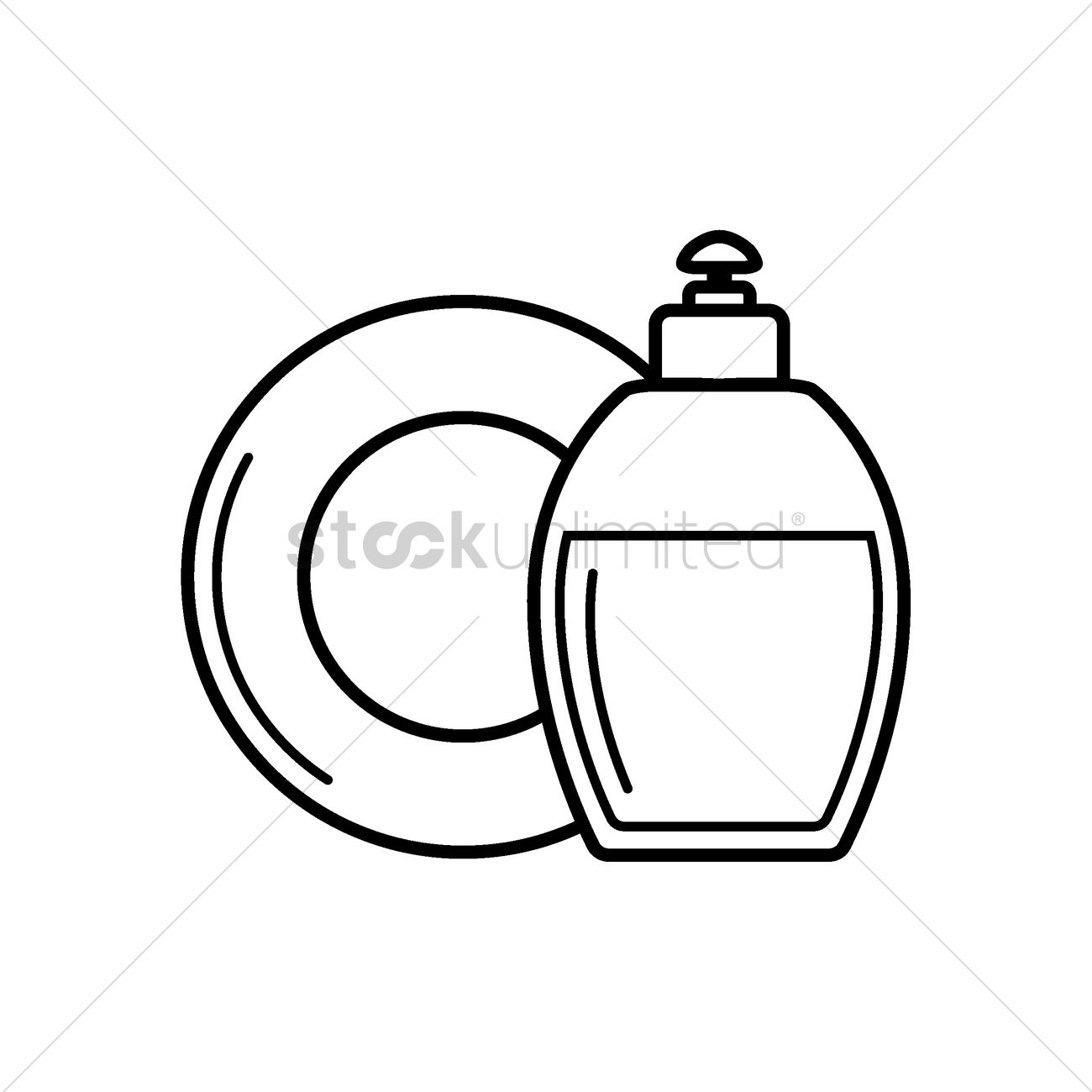 1300x1300 Dishwasher Detergent Vector Image