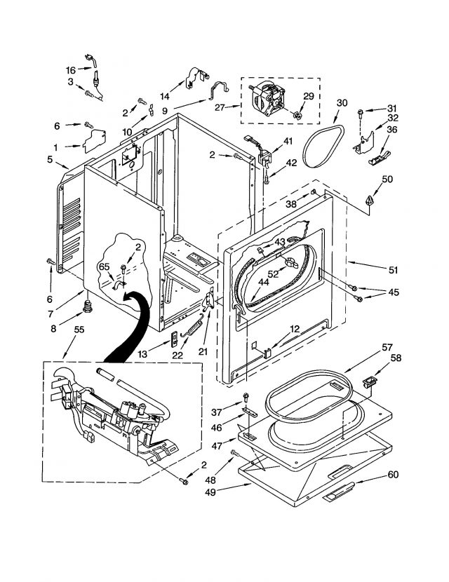 washing machine motor schematic