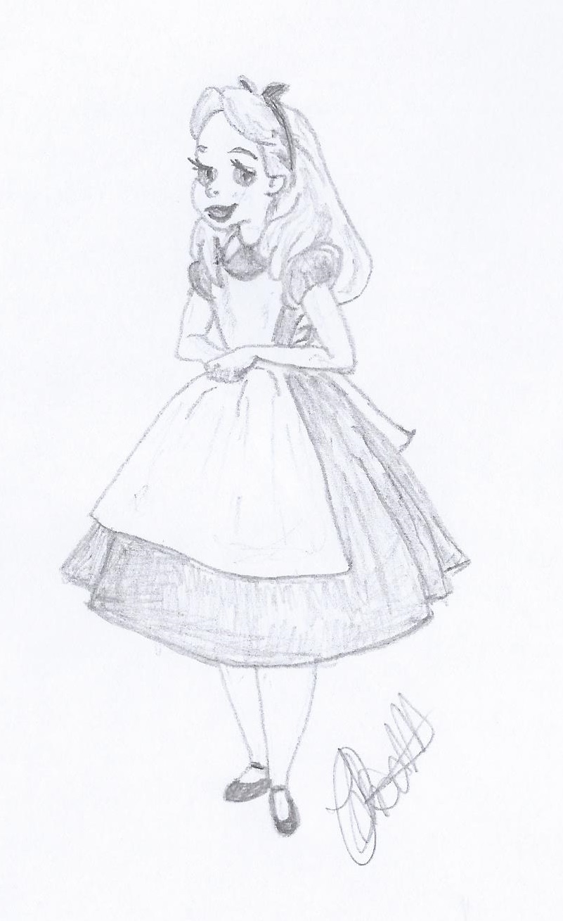 801x1309 Disney Illustration Study Alice In Wonderland Jo Linsdell