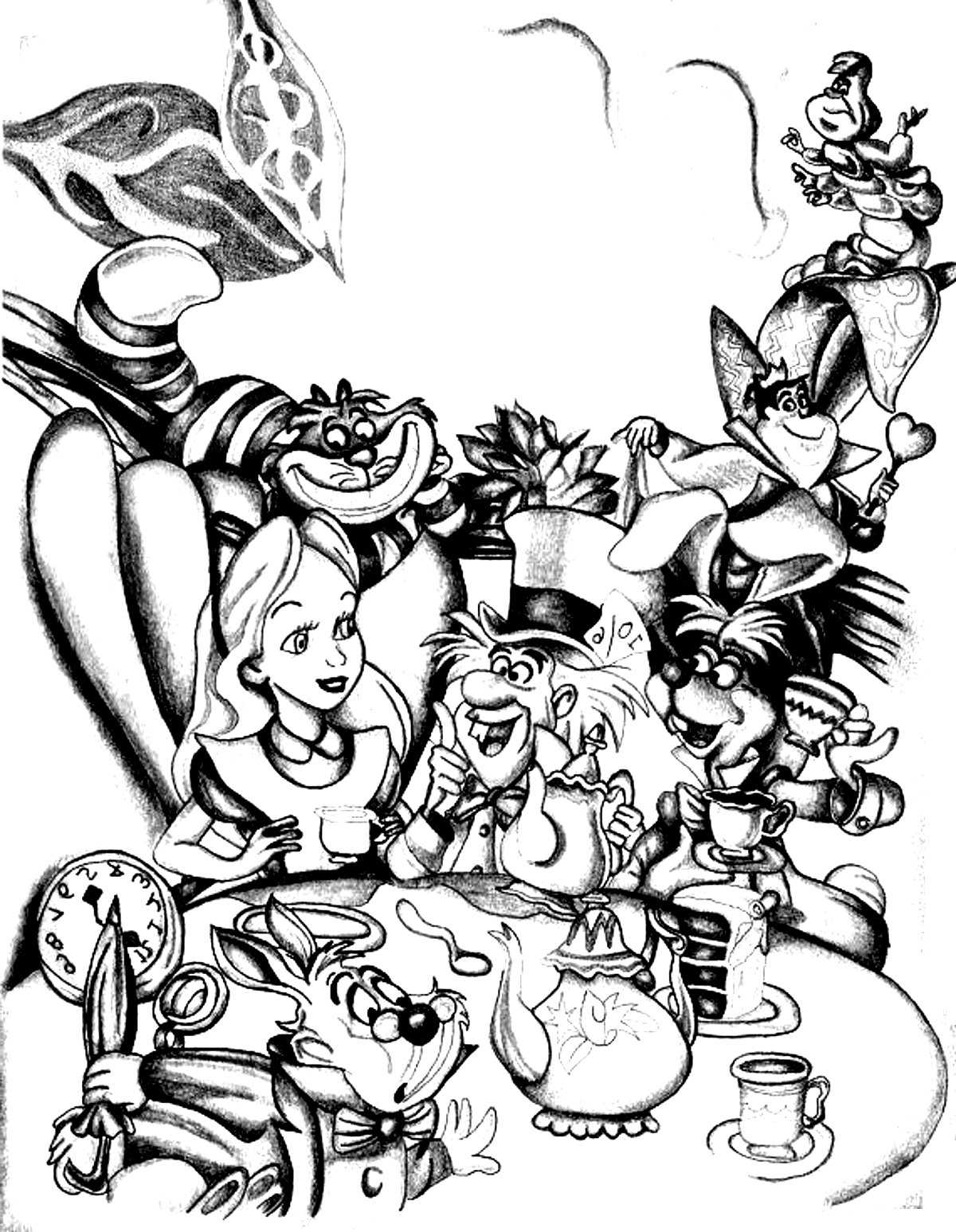 1200x1547 Disney Drawing Alice In Wonderland Return To Childhood
