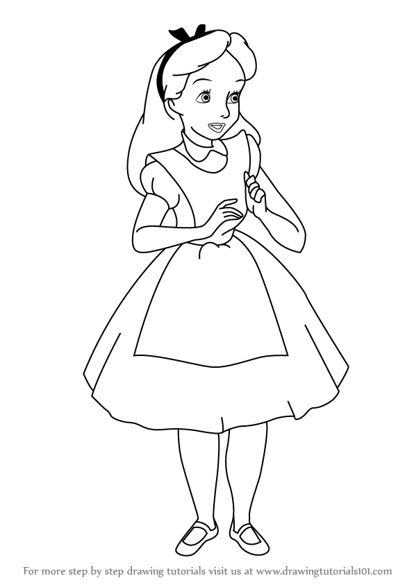 596x843 Learn How To Draw Alice From Alice Wonderland (Alice