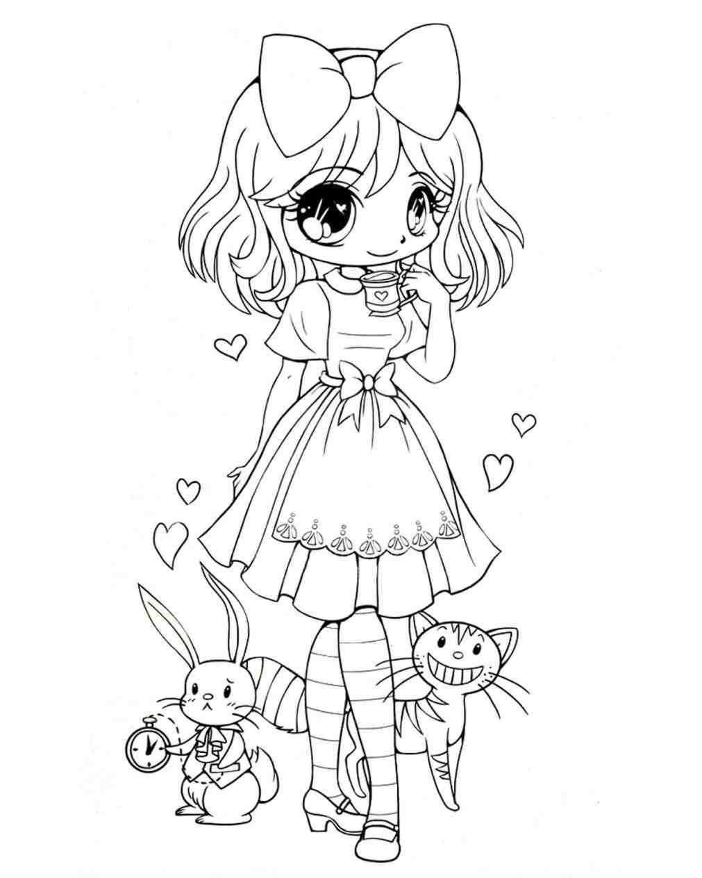 1011x1264 Draw Alice Wonderland Characters Coloring Pages Disney Alice