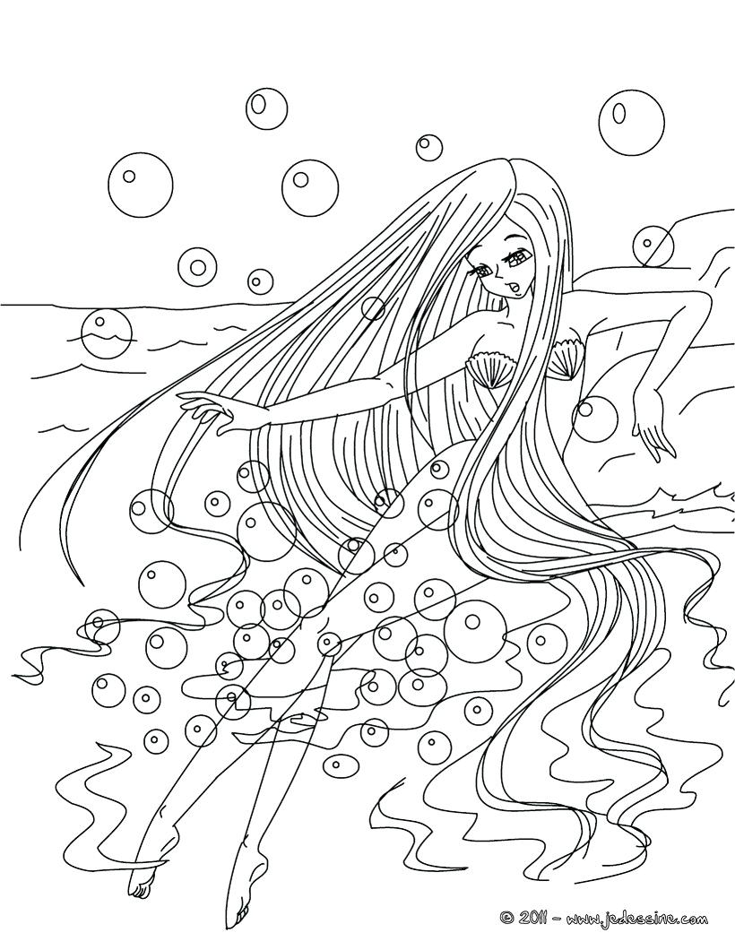 820x1060 Large Size Of Coloring Mermaid Drawing Pages Princess Barbie Free
