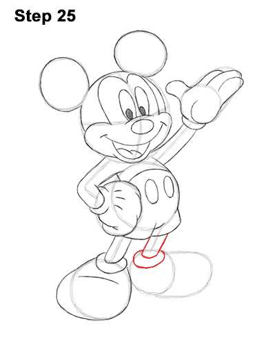 386x500 How To Draw Mickey Mouse (Full Body)