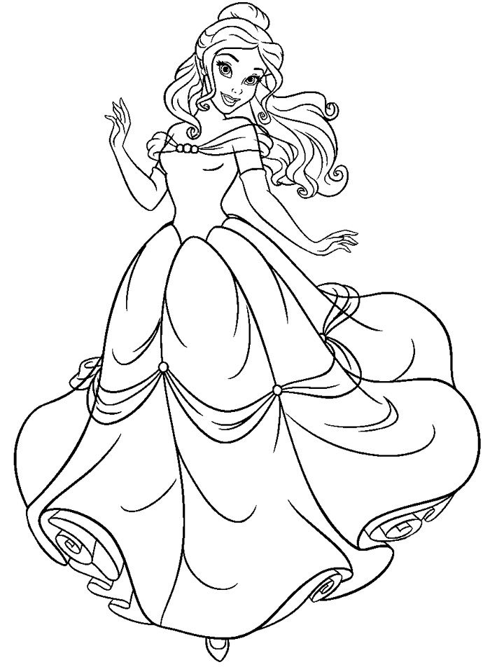 Disney Belle Drawing