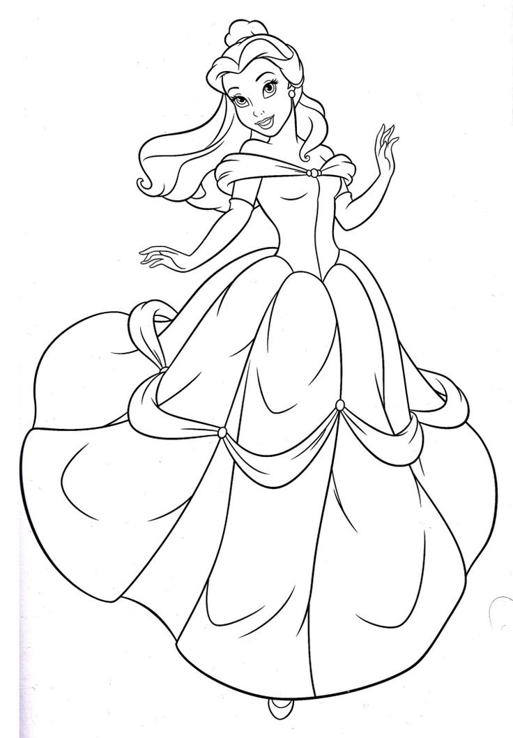 belle coloring pages disney belle drawing at free for