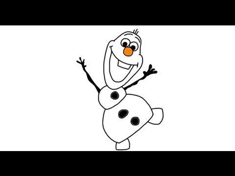 480x360 How To Draw Olaf The Snowman From Disney's Frozen Movie In Full