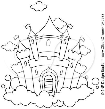 Disney Castle Drawing Simple