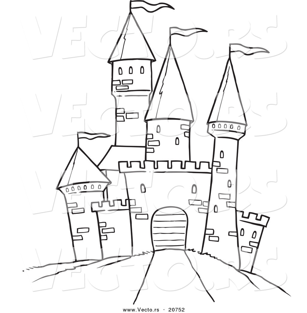 disney castle drawing simple at getdrawings com free for personal