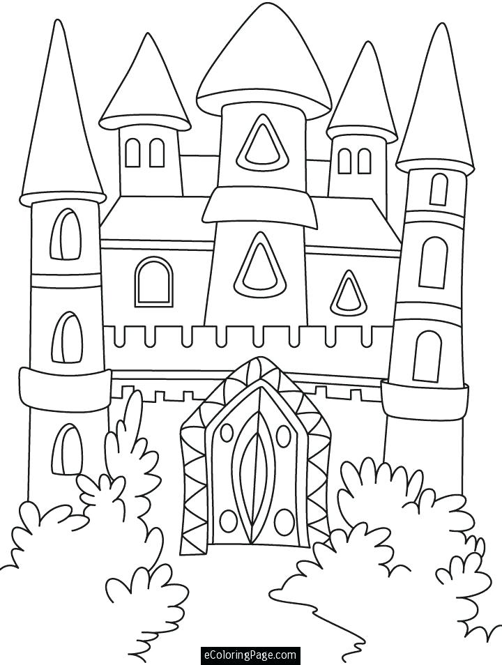 720x954 Disney Castle Coloring Page Castle And Knights Coloring Pages