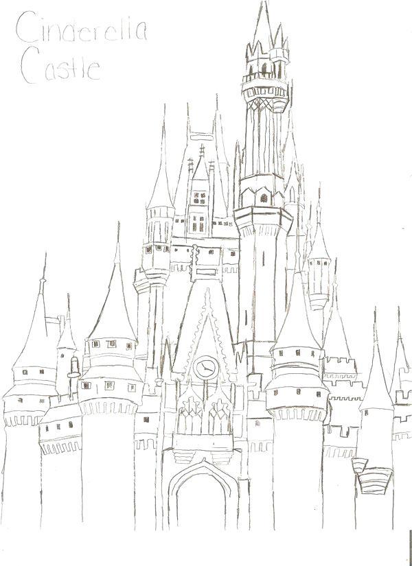 600x825 Disney Castle Coloring Page Castle Castles Coloring Pages
