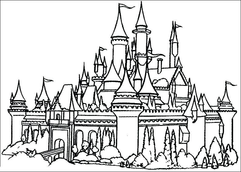 794x567 Disney Castle Coloring Page Castle Coloring Pages Cinderella