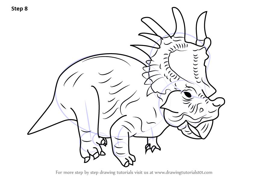 843x596 Learn How To Draw Eema From Disney Dinosaur (Disney Dinosaur) Step