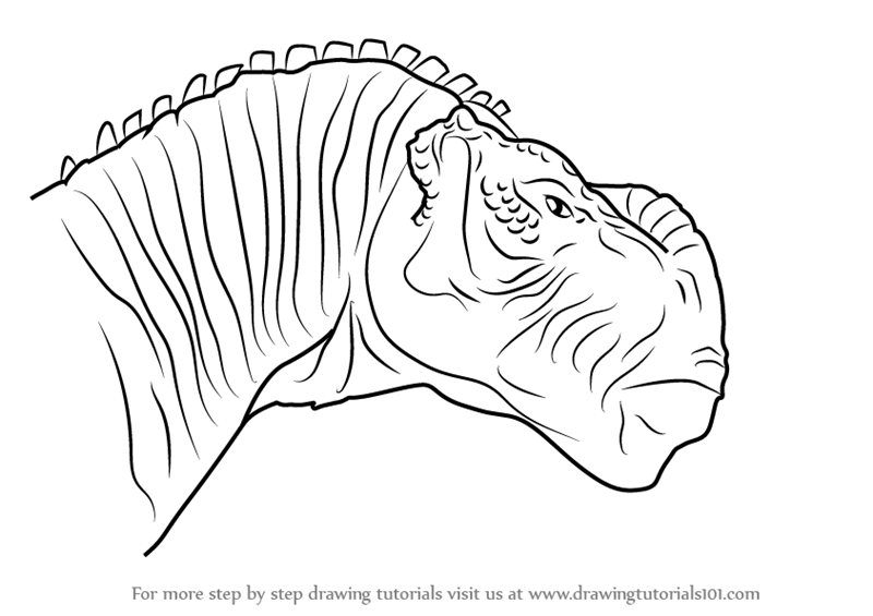 800x565 Learn How To Draw Kron From Disney Dinosaur (Disney Dinosaur) Step