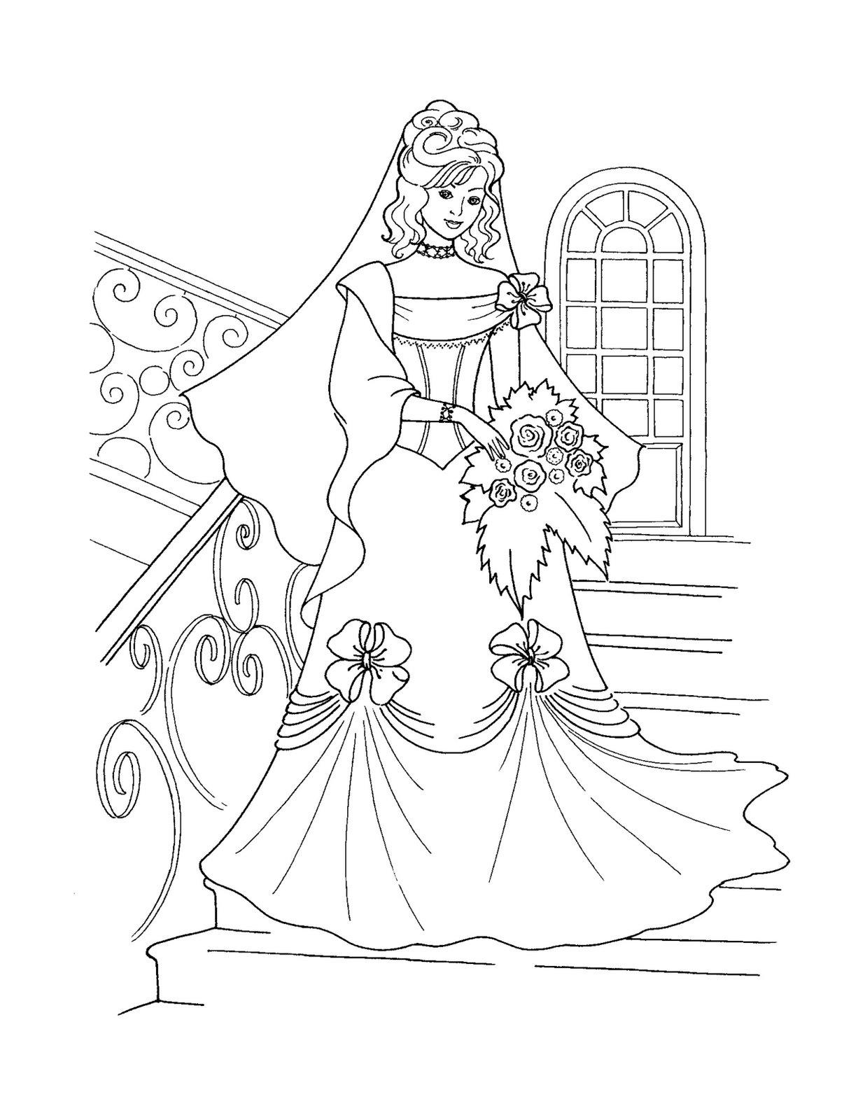 1236x1600 Princess Coloring Pages