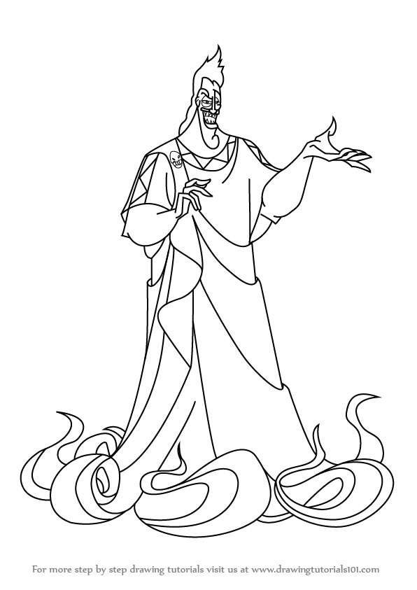 596x843 Step By Step How To Draw Hades From Hercules
