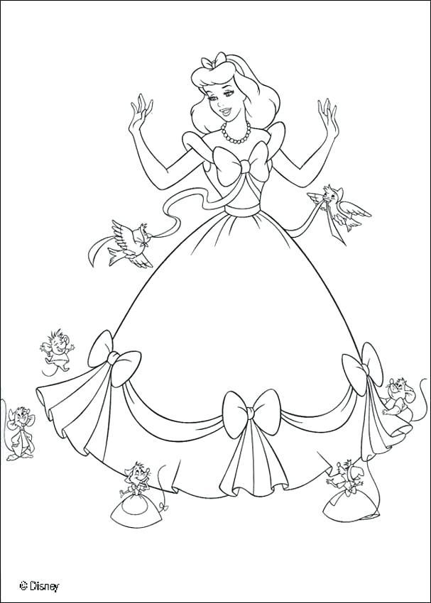 607x850 Coloring Pages Of Cinderella Genesisar.co