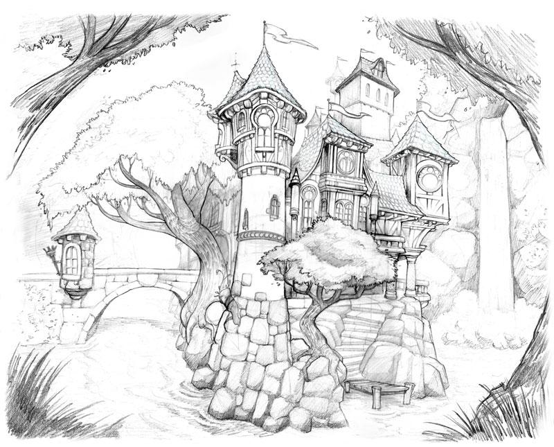 800x645 Castle Drawing By Brandonstarr