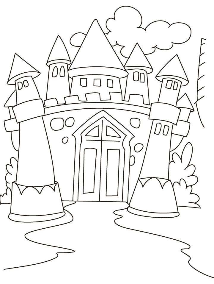 720x954 Awesome Castle Coloring Page 24 For Line Drawings With