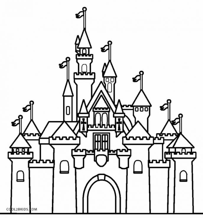 687x736 Coloring Pages Castle Coloring Pages Castle Coloring Pages
