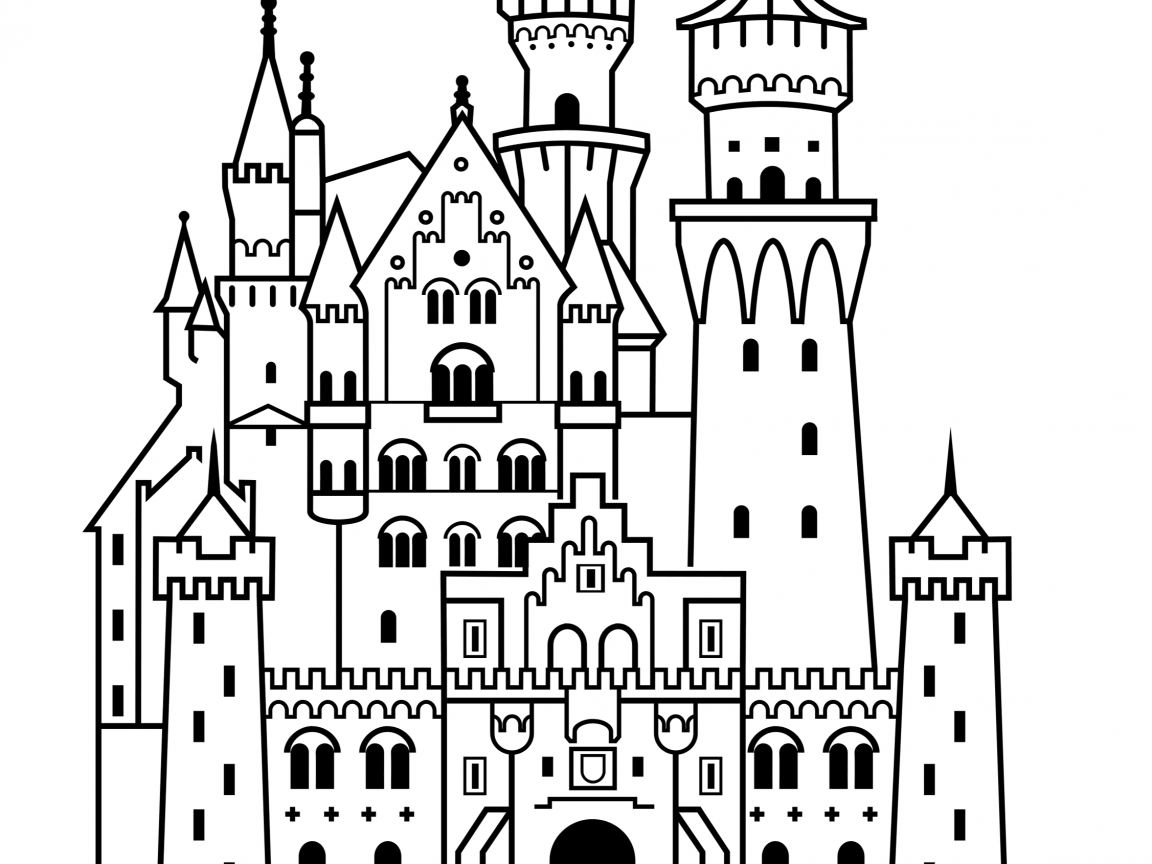 Disney Castle Line Drawing at GetDrawings.com | Free for personal ...