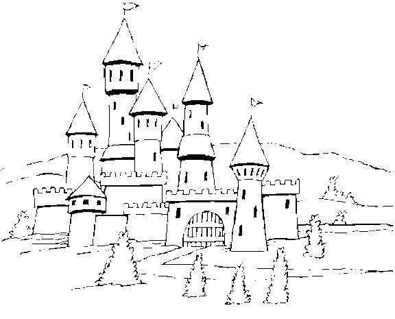 576x465 Coloring Pages Castle Free Coloring Pages Of Castle Coloring Pages